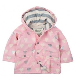 Hatley Hatley Metallic Hearts Infant Raincoat