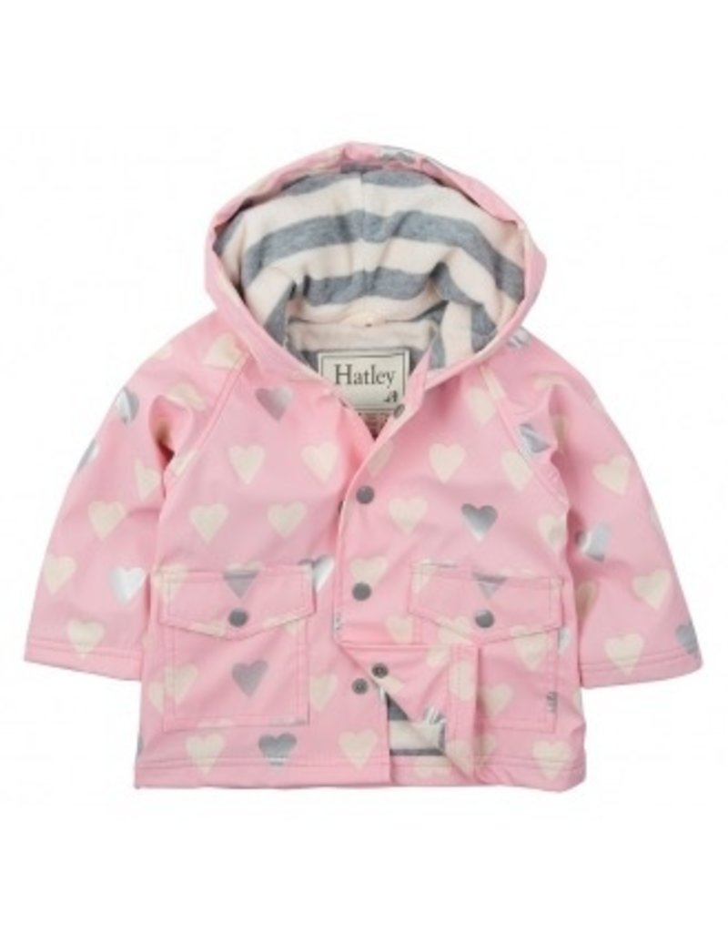 Hatley Hatley Metallic Hearts Infant Raincoat