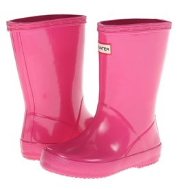 Hunter Boots Kid's First Hunter Gloss Boots Fuchsia