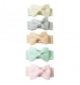 Bow Clip 5pk - Pastel