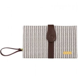 JJ Cole JJ Cole Changing Clutch - Dashed Stripe
