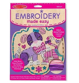 Melissa & Doug Embroidery Made Easy: Puppy & Kitten