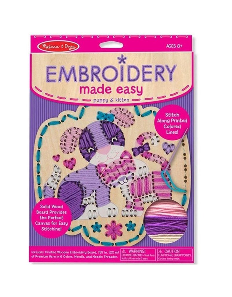 Melissa & Doug Melissa & Doug Embroidery Made Easy: Puppy & Kitten