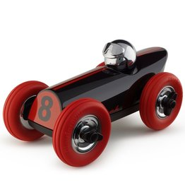 Playsam Playforever Midi Race Car Buck - Black Red w/Chrome