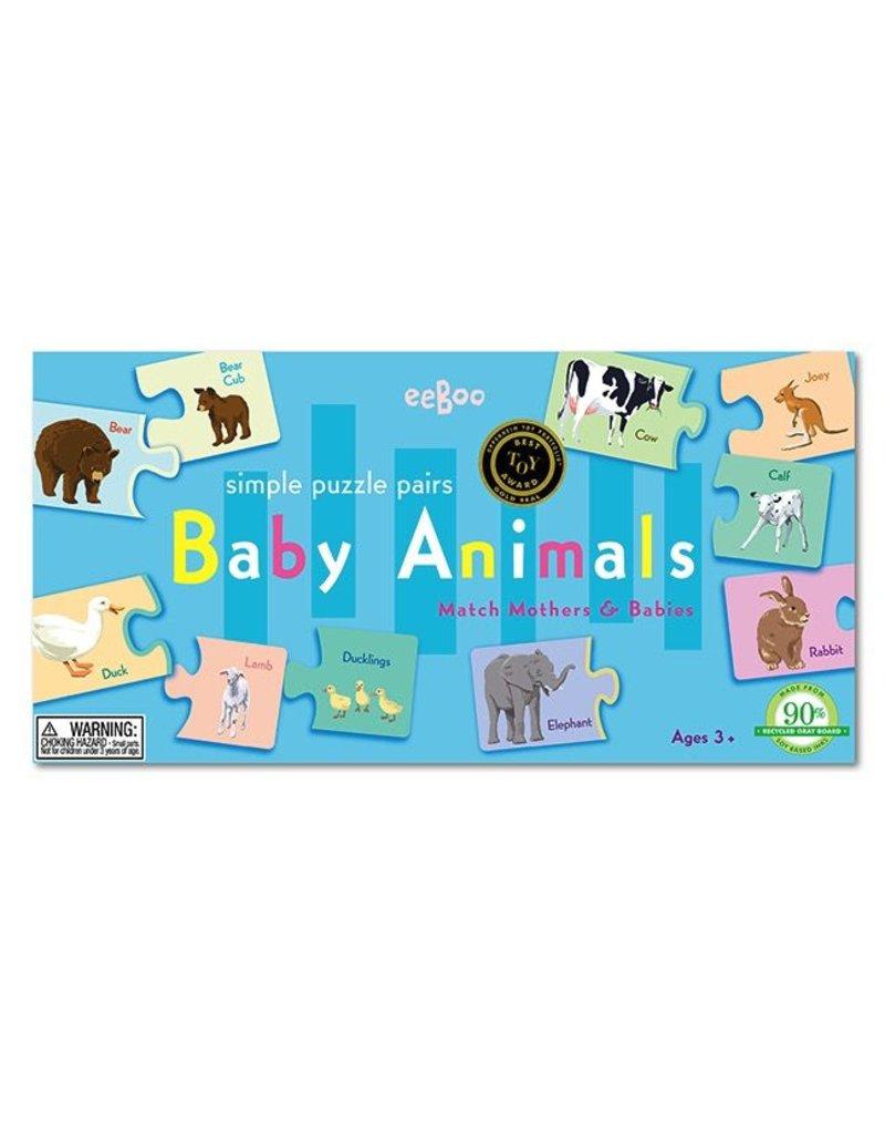 Eeboo Eeboo Baby Animal Puzzle Pairs