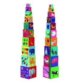 Djeco Djeco Stacking Cubes Nature And Animals