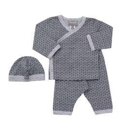 Coccoli Herringbone Kimono/Pant/Hat Set
