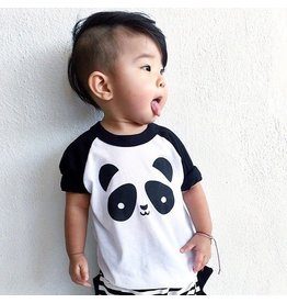 Whistle & Flute Kawaii Panda Baseball T-Shirt
