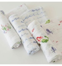 Little Unicorn Little Unicorn Muslin 3pk -  Mermaid
