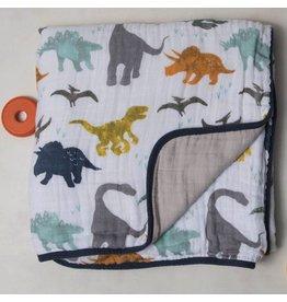 Little Unicorn Little Unicorn Cotton Muslin Quilt - Dino Friends
