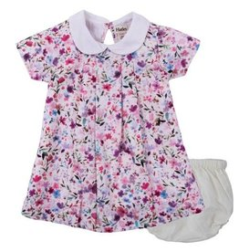 Hatley Hatley Waterflowers Baby Poplin Dress & Bloomer Set