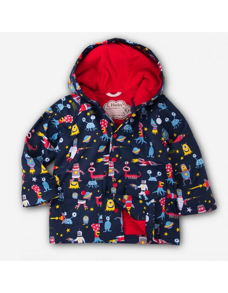 Hatley Hatley Space Aliens Raincoat
