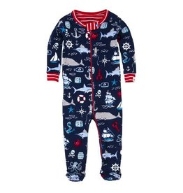 Hatley Hatley Vintage Nautical Footed Coverall