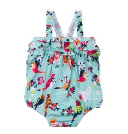 Hatley Hatley Tropical Birds Baby Ruffle Swimsuit
