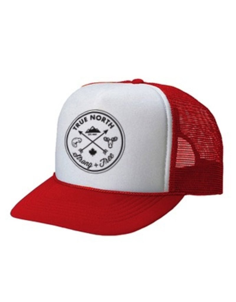 True North True North Youth Trucker Hat - Red