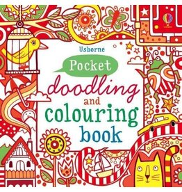 Usborne Pocket Doodling & Colouring Book: Red Book