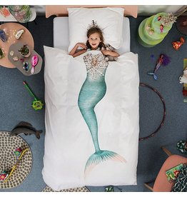 Snurk Snurk Twin Duvet Cover + Pillow - Mermaid