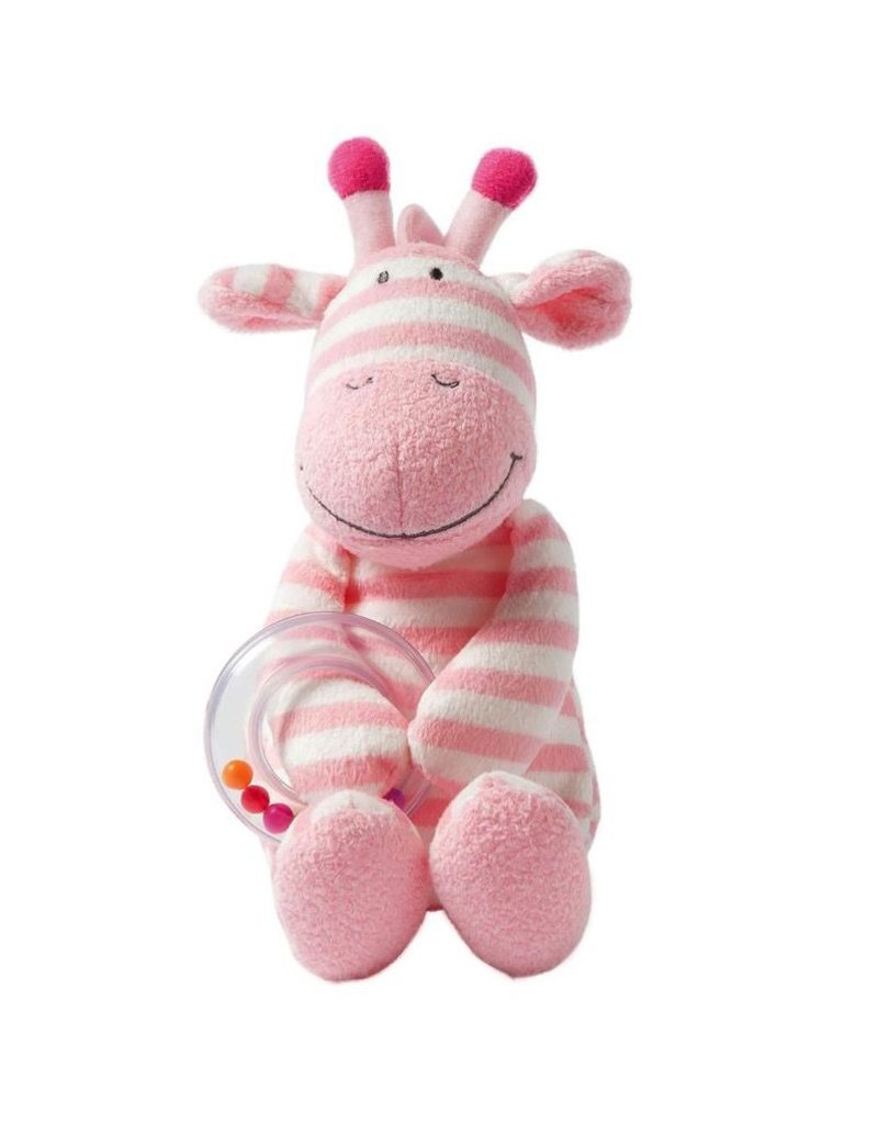 Manhattan Toys Giggle Soft Small Plush Giraffe Ring Rattle