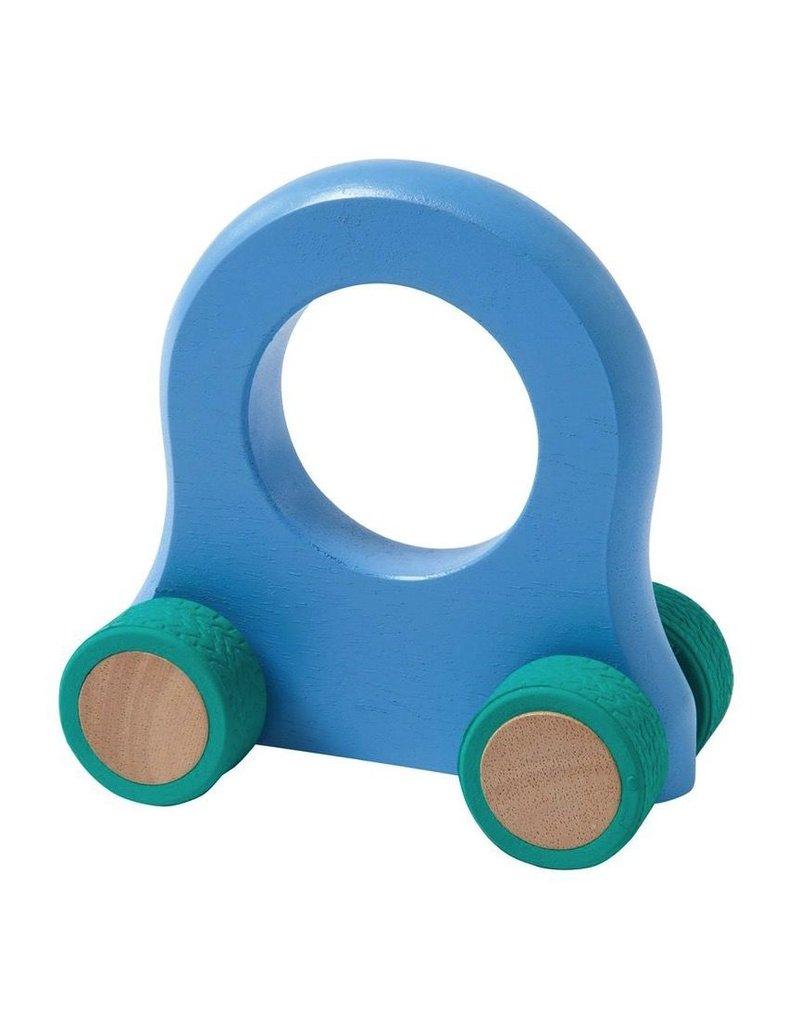 Manhattan Toys Giggle Wood Vehicle Blue