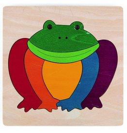 Hape Toys George Luck Rainbow Frog Puzzle