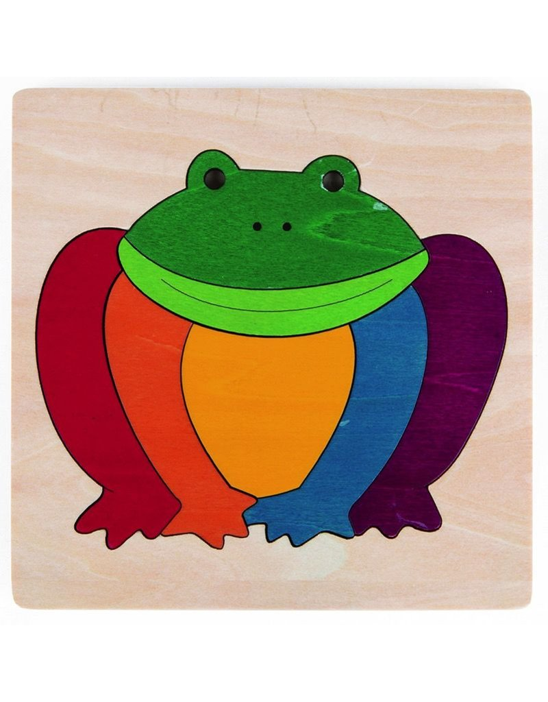 Hape Toys George Luck Rainbow Frog Puzzle
