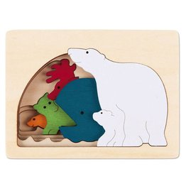 Hape Toys George Luck Polar Layer Puzzle