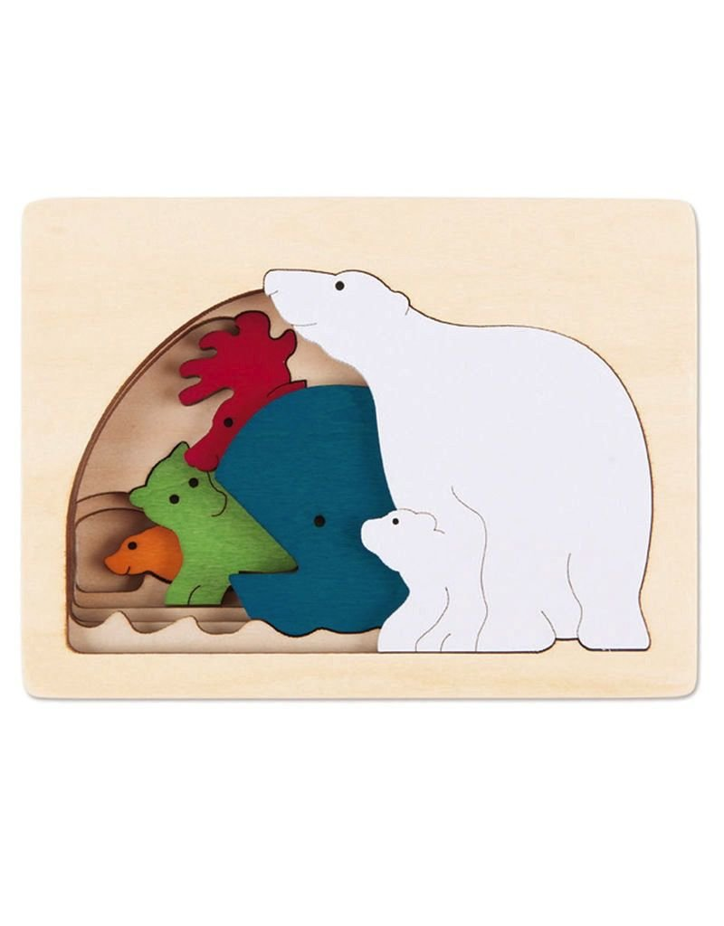 Hape Toys George Luck Polar Layer Puzzle