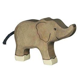 Holztiger Holztiger Elephant, Small, trunk raised