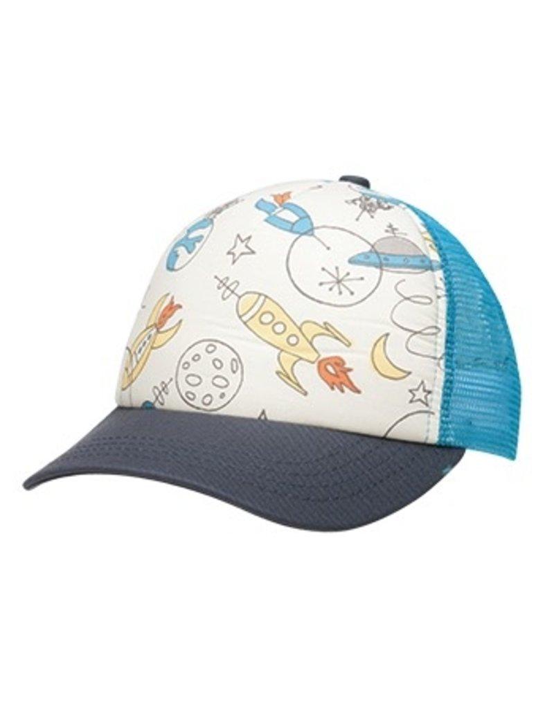Ambler Spaceship Baseball Hat, Turquoise 2-6Y