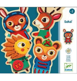 Djeco Sakaï Animal Lacing Cards