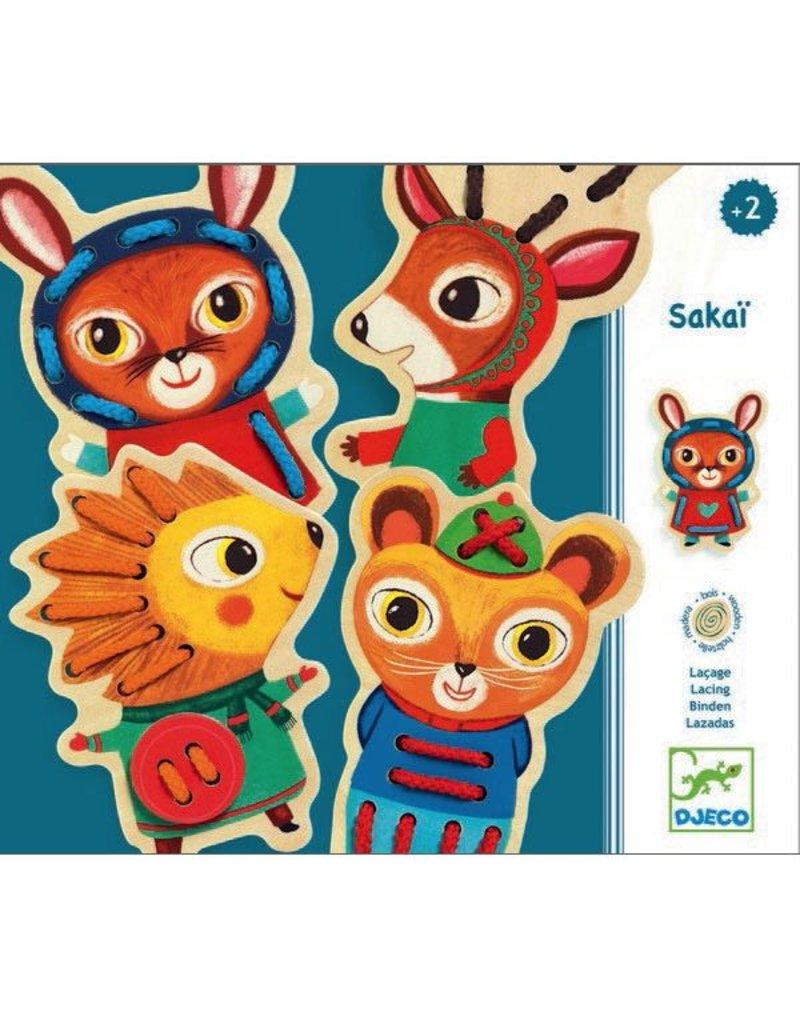 Djeco Sakaï Animal Lacing Cards