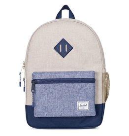 Herschel Herschel Youth Backpack - Light Khaki Crosshatch/Dark Chambray Crosshatch