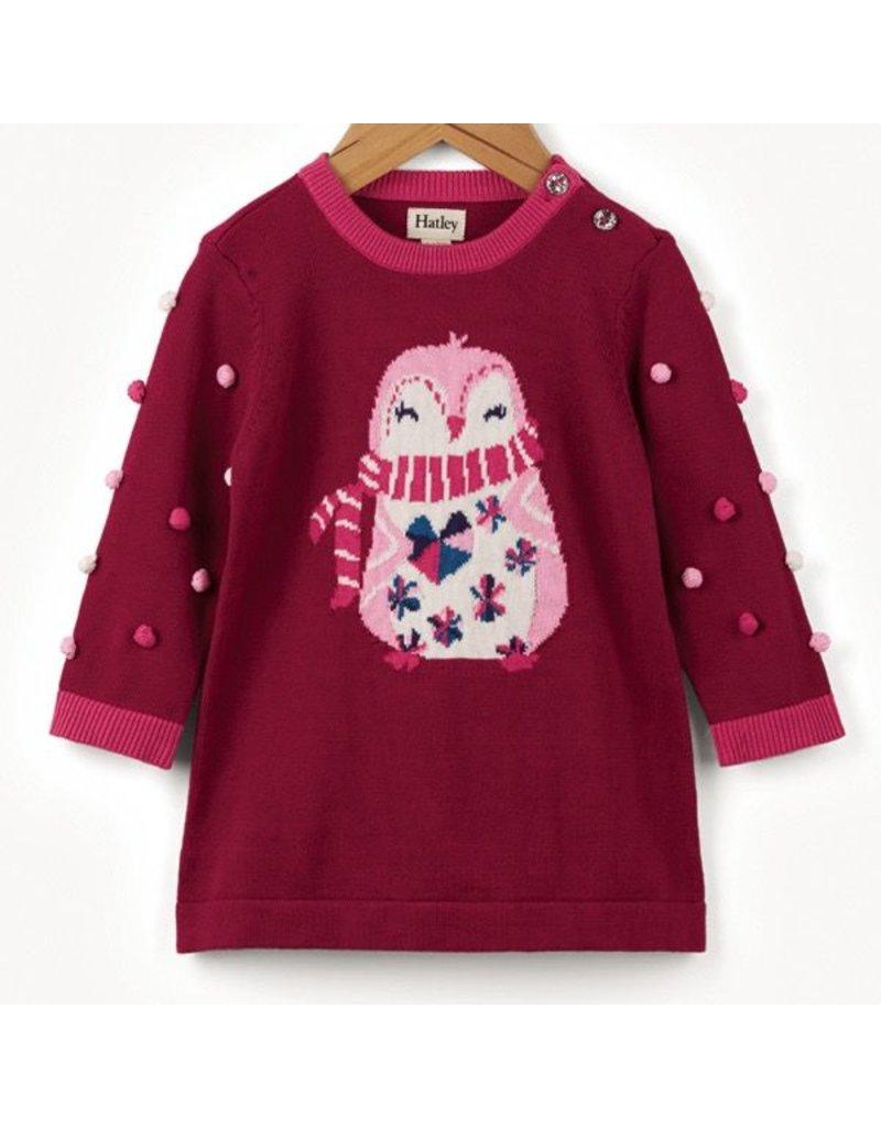 Hatley Cozy Penguin Sweater Dress