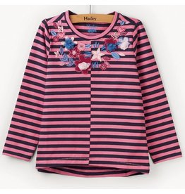 Hatley Floral Stripes Long Sleeve Tee