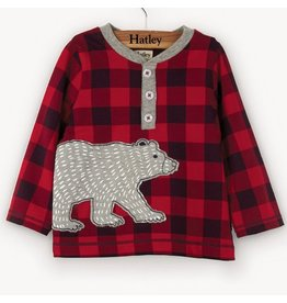Hatley Bear Long Sleeve Baby Henley