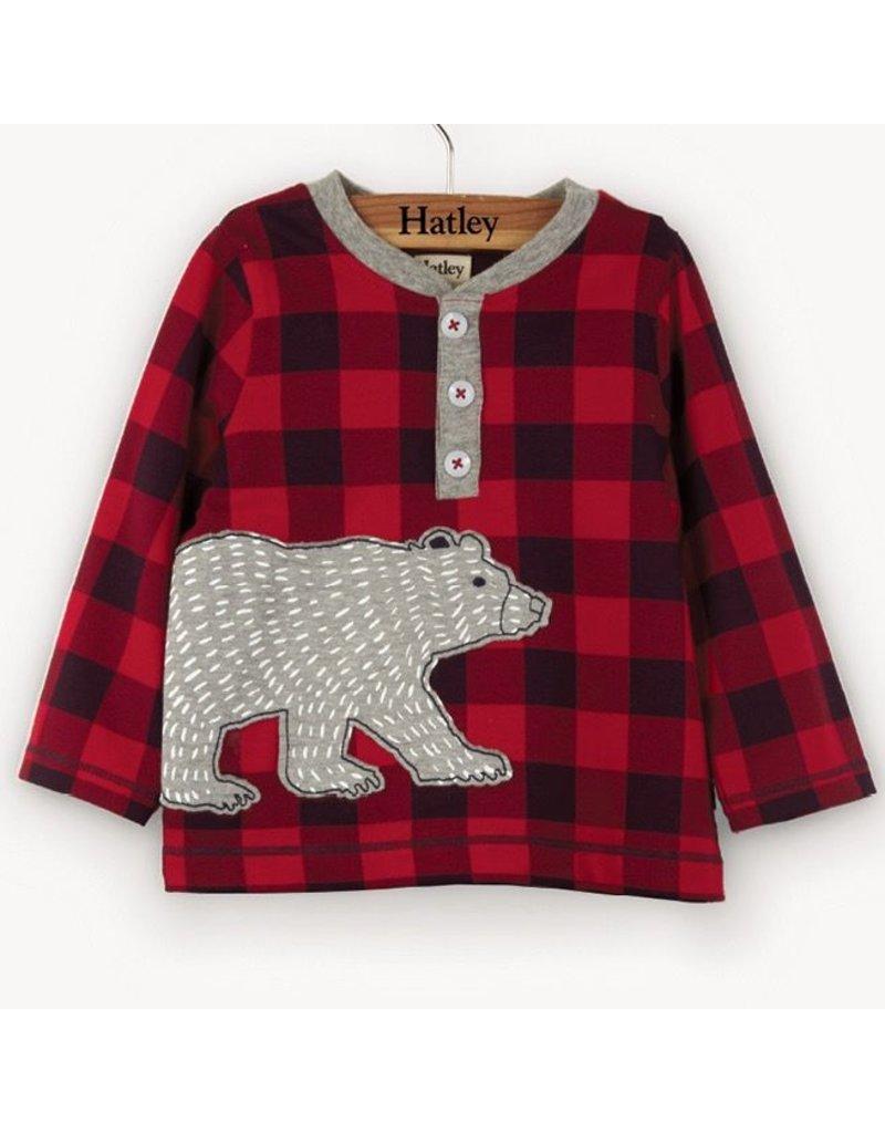 Hatley Bear Long Sleeve Baby Henley