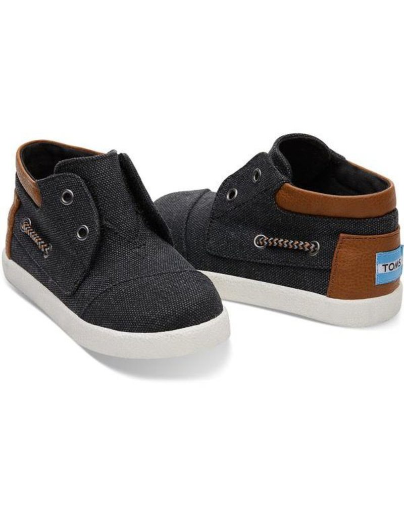 Toms Tiny Black Washed Canvas Biminis