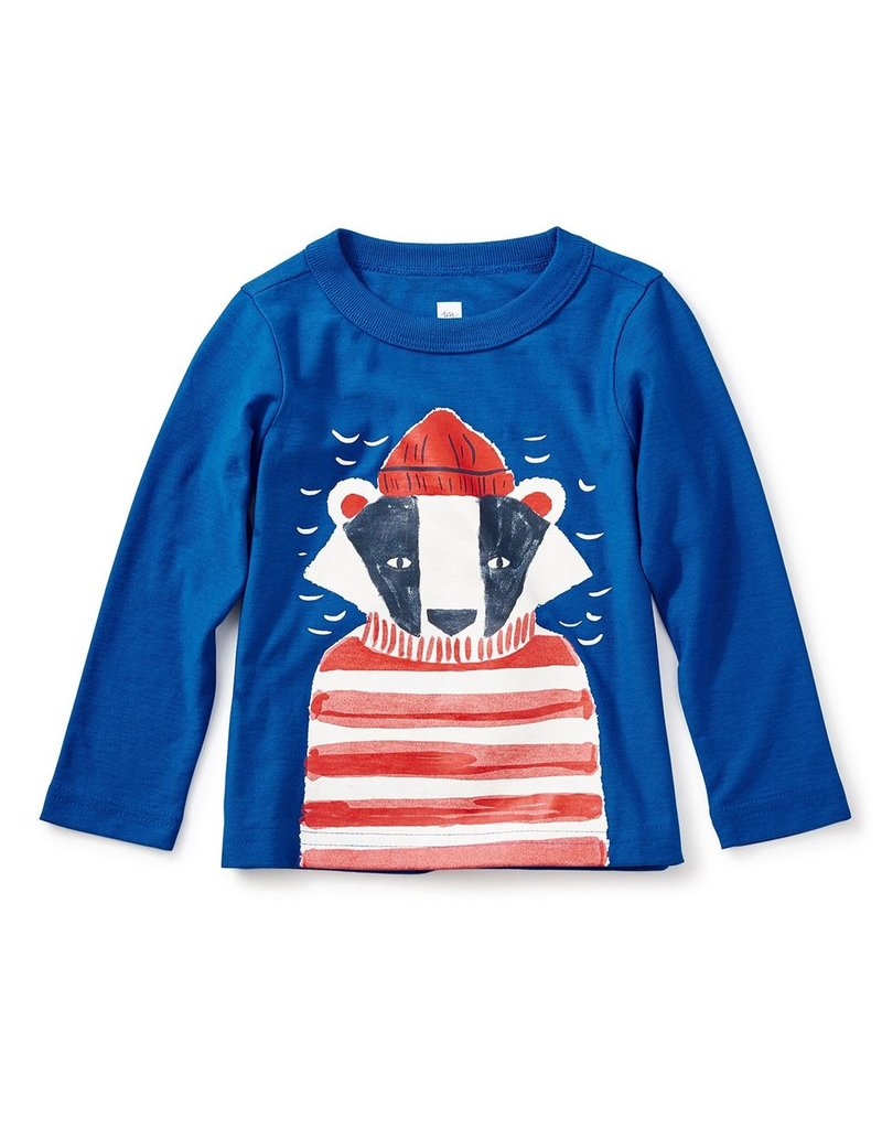 Tea Collection Tea Collection Salty Badger Graphic Baby Tee