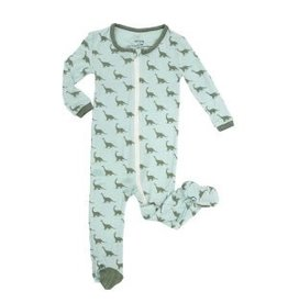 Silkberry Silkberry Dino Bamboo Printed Footie