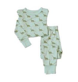 Silkberry Silkberry Dino Bamboo Pajama Set