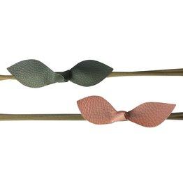 Headband Leather Knot- Pink/Grey 2pk