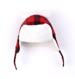 Kapital K Kapital K Plaid Trapper Bear Hat
