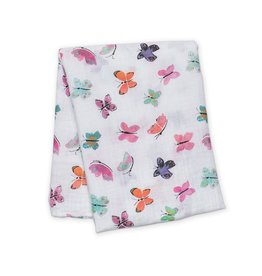 Lulujo Muslin Watercolour Swaddle