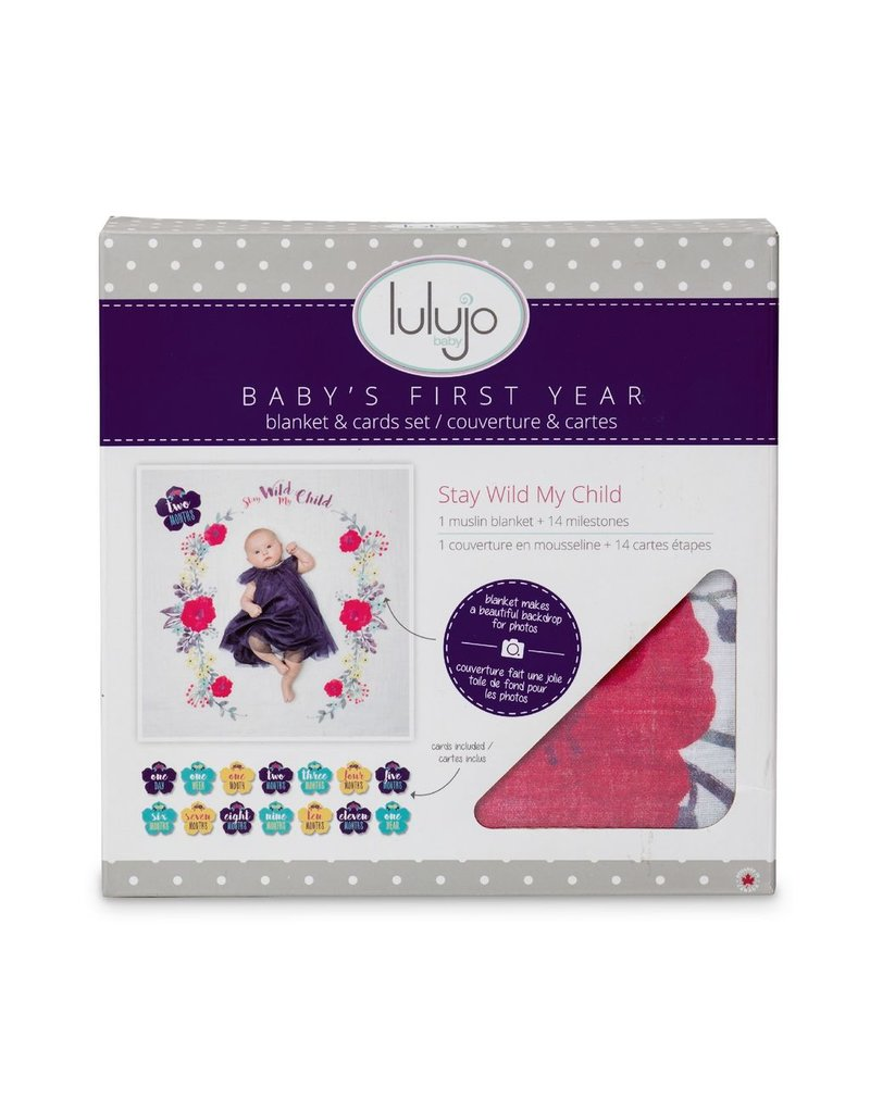 Lulujo Lulujo Baby's 1st Year set - Stay Wild My Child