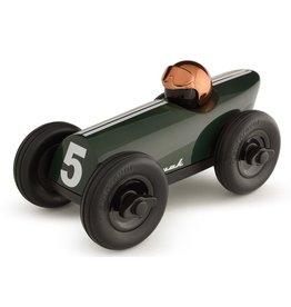 Playforever Playforever Midi Race Car Buck - Green w/Copper Helmet