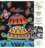 Djeco Djeco Colouring Velvet - Creepy Crawlies