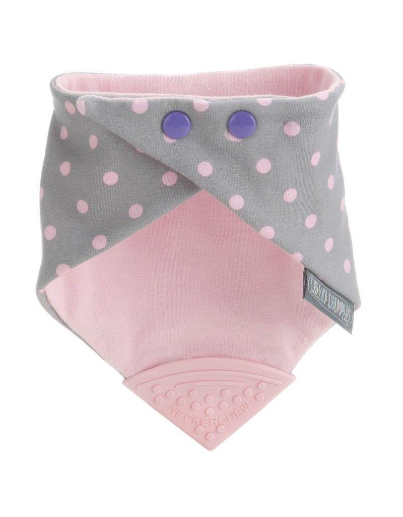 Neckerchew Bib - Polka Dot Pink