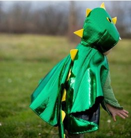 Toddler Dragon Cape, Green, 1-2Y