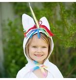 Unicorn Toddler Cape, White, 2-3Y
