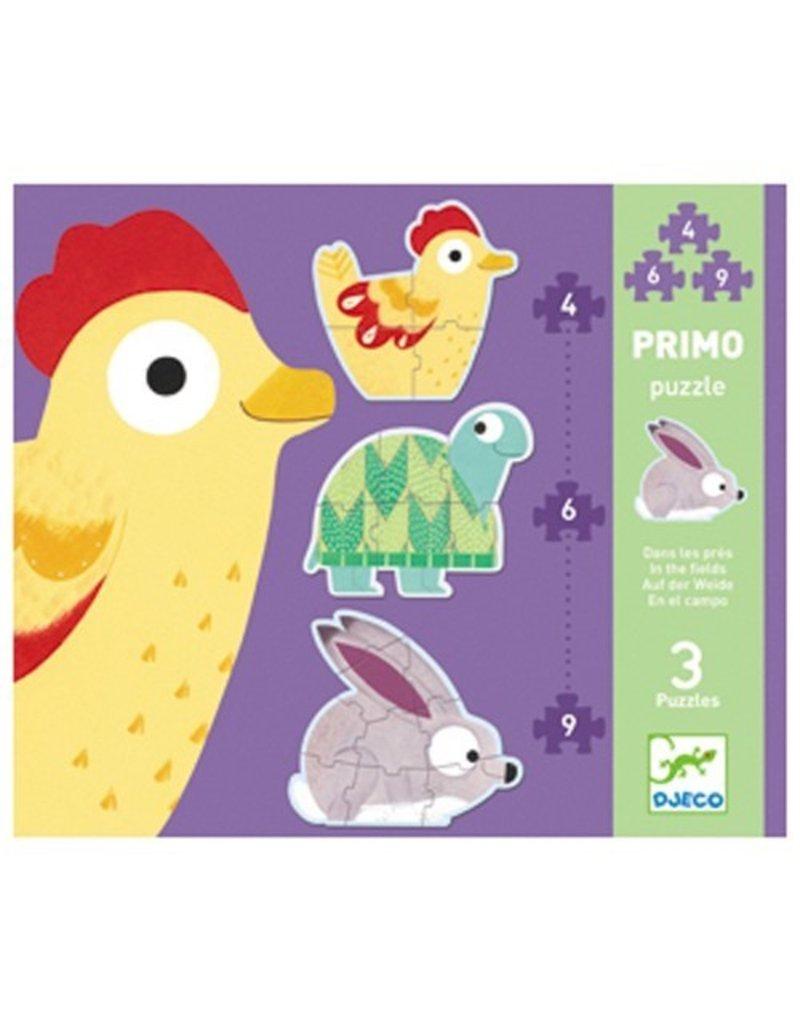Djeco Djeco Primo Puzzle - In The Meadows - 4,6,9pc
